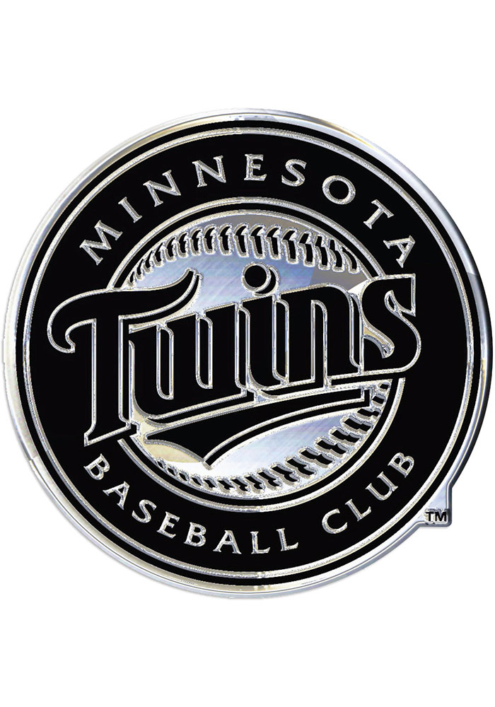 Minnesota Twins Chrome Car Emblem - Silver