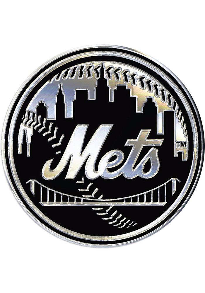 New York Mets Chrome Car Emblem - Silver