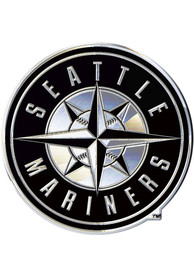 Seattle Mariners Chrome Car Emblem - Silver