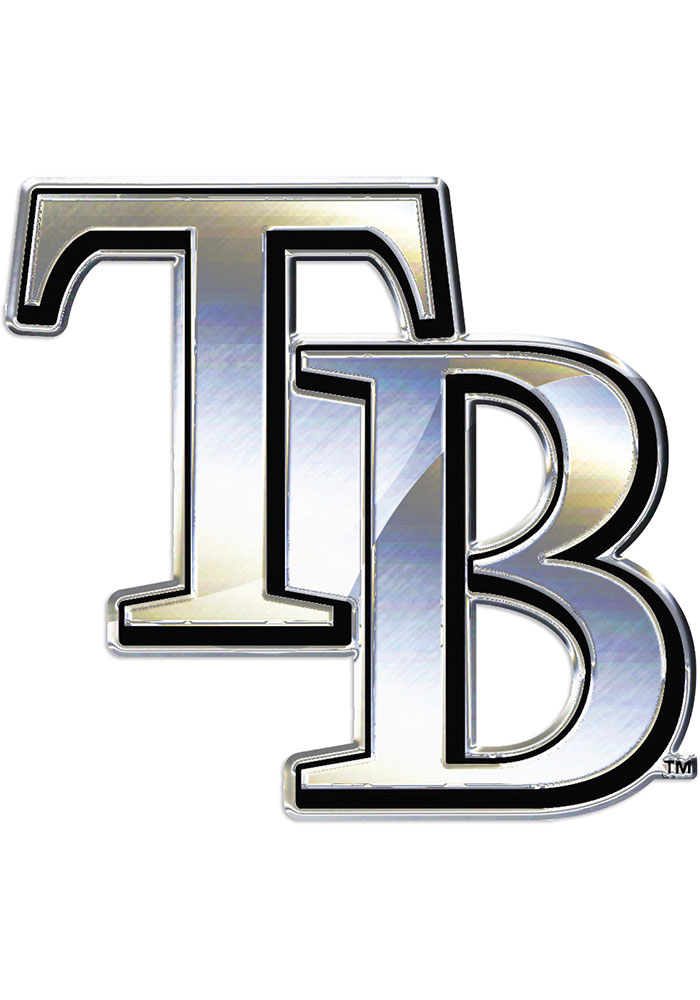 Tampa Bay Rays Chrome Car Emblem - Silver