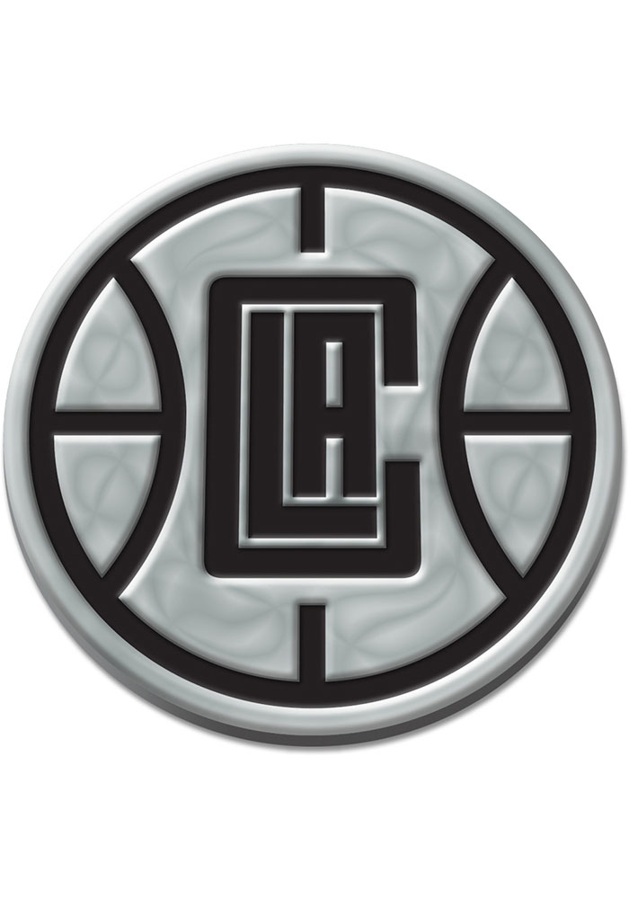 Los Angeles Clippers Chrome Car Emblem - Silver