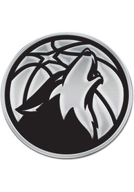 Minnesota Timberwolves Chrome Car Emblem - Silver