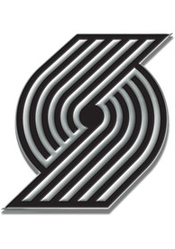 Portland Trail Blazers Chrome Car Emblem - Silver