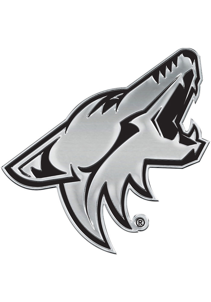 Arizona Coyotes Chrome Car Emblem - Silver