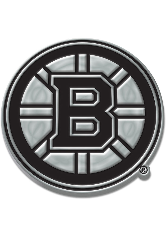 Boston Bruins Chrome Car Emblem - Silver