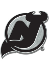 New Jersey Devils Chrome Car Emblem - Silver