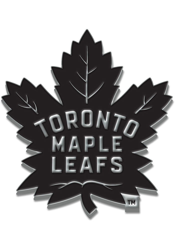 Toronto Maple Leafs Chrome Car Emblem - Silver