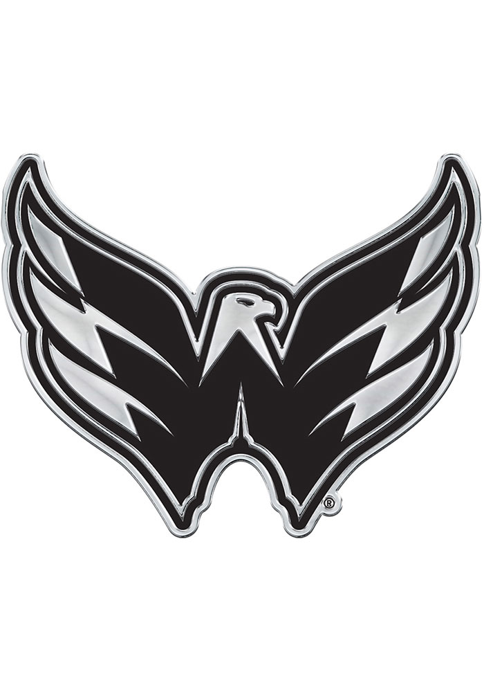 Washington Capitals Chrome Car Emblem - Silver