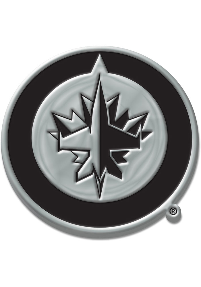 Winnipeg Jets Chrome Car Emblem - Silver