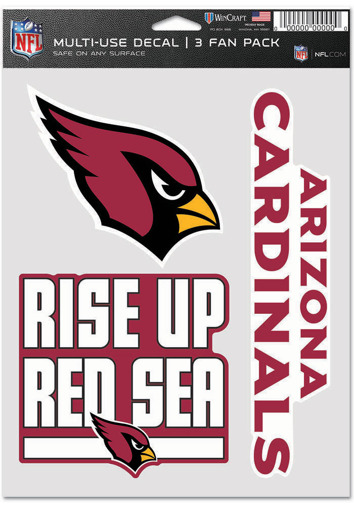 Arizona Cardinals Triple Pack Auto Decal - Black