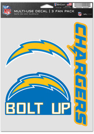 Los Angeles Chargers Triple Pack Auto Decal - Blue
