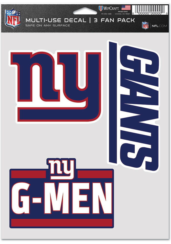 New York Giants Triple Pack Auto Decal - Blue - Image 1