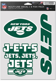 New York Jets Triple Pack Auto Decal - Green