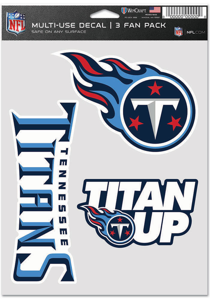 Tennessee Titans Triple Pack Auto Decal - Blue