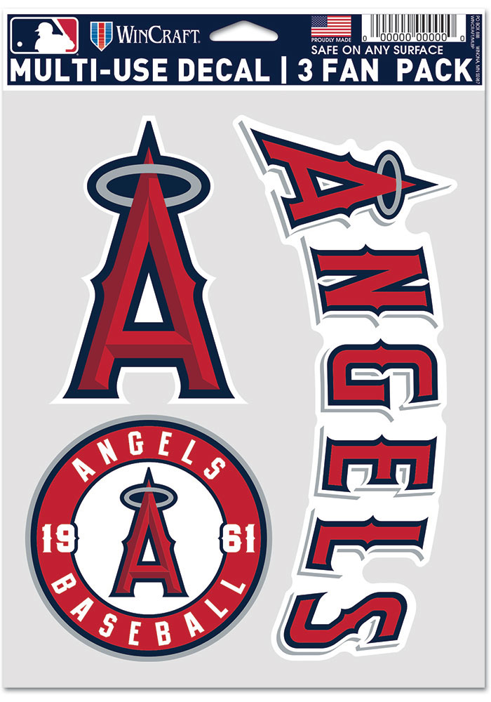 Los Angeles Angels Triple Pack Auto Decal - Red - Image 1