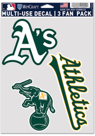Oakland Athletics Triple Pack Auto Decal - Green