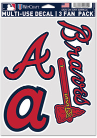 Atlanta Braves Triple Pack Auto Decal - Red
