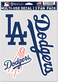 Los Angeles Dodgers Triple Pack Auto Decal - Blue