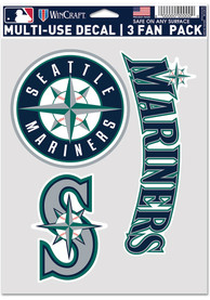 Seattle Mariners Triple Pack Auto Decal - Blue