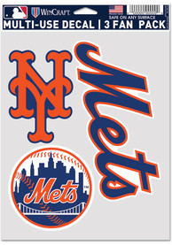 New York Mets Triple Pack Auto Decal - Blue
