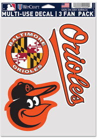 Baltimore Orioles Triple Pack Auto Decal - Black