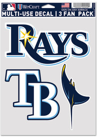 Tampa Bay Rays Triple Pack Auto Decal - Blue