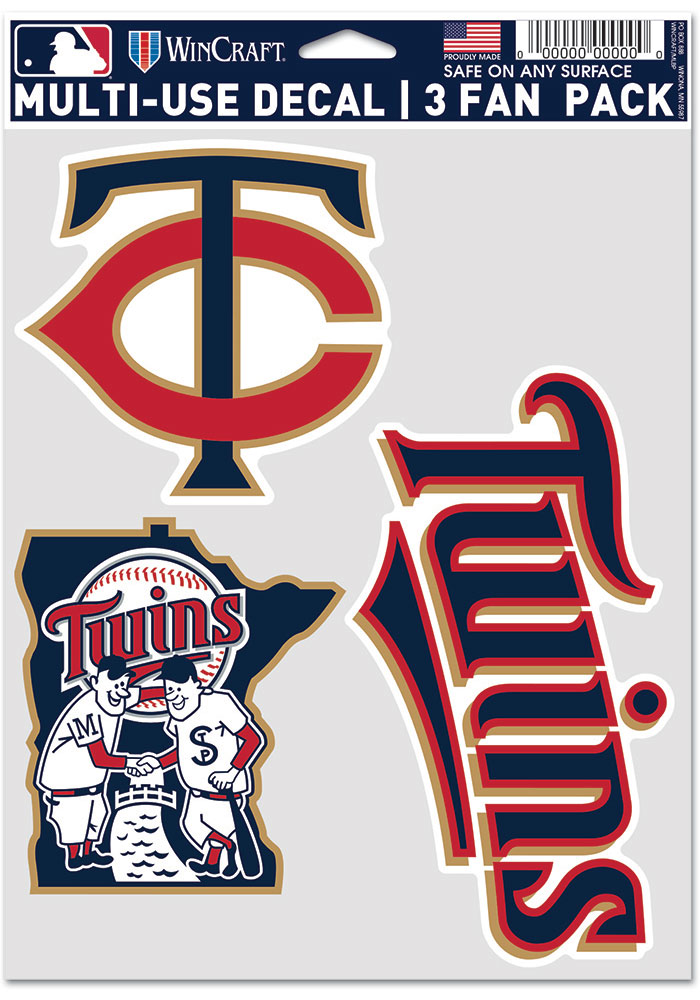 Minnesota Twins Triple Pack Auto Decal - Red - Image 1
