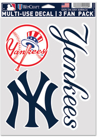 New York Yankees Triple Pack Auto Decal - Blue