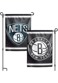 Brooklyn Nets 2 Sided Team Logo Garden Flag