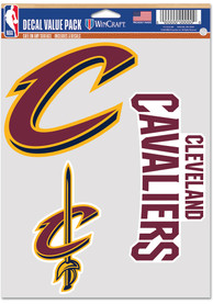 Cleveland Cavaliers Triple Pack Auto Decal - Black