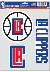 Los Angeles Clippers Triple Pack Auto Decal - Red