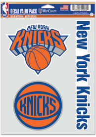 New York Knicks Triple Pack Auto Decal - Blue