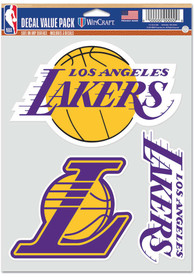 Los Angeles Lakers Triple Pack Auto Decal - Yellow