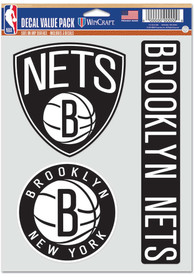 Brooklyn Nets Triple Pack Auto Decal - Black