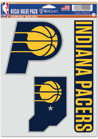 Indiana Pacers Triple Pack Auto Decal - Blue