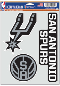 San Antonio Spurs Triple Pack Auto Decal - Black
