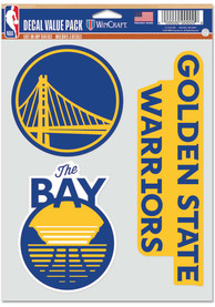 Golden State Warriors Triple Pack Auto Decal - Blue
