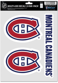 Montreal Canadiens Triple Pack Auto Decal - Red