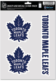 Toronto Maple Leafs Triple Pack Auto Decal - Blue