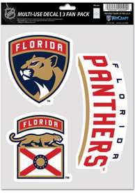 Florida Panthers Triple Pack Auto Decal - Red