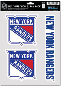 New York Rangers Triple Pack Auto Decal - Blue