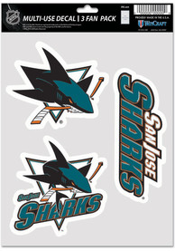 San Jose Sharks Triple Pack Auto Decal - Blue