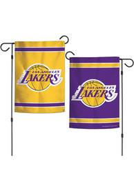 Los Angeles Lakers 2 Sided Team Logo Garden Flag