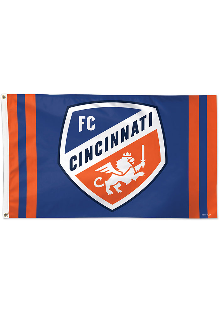 FC Cincinnati 3x5 ft Blue Silk Screen Grommet Flag