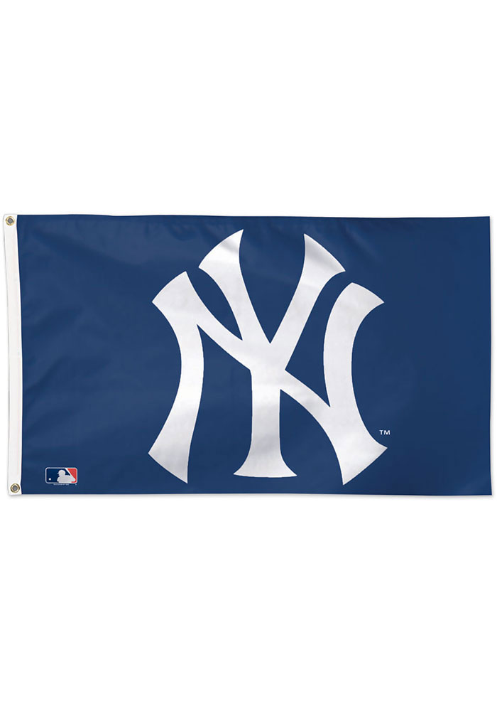 New York Yankees 3x5 ft Blue Silk Screen Grommet Flag
