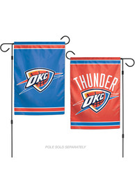Oklahoma City Thunder 2 Sided Team Logo Garden Flag