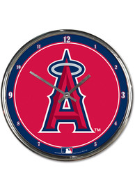 Los Angeles Angels Chrome Wall Clock