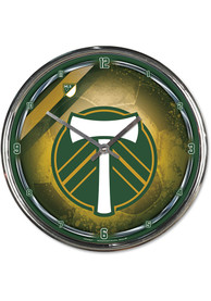 Portland Timbers Chrome Wall Clock