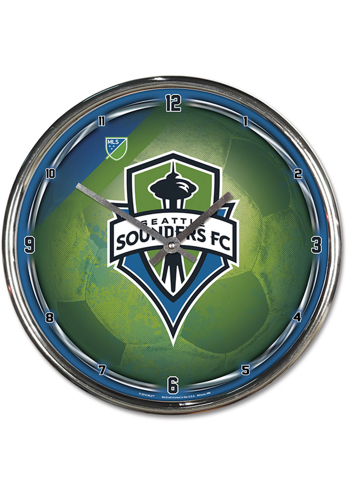 Seattle Sounders FC Chrome Wall Clock - Image 1