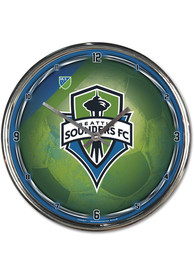 Seattle Sounders FC Chrome Wall Clock